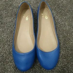 Cobalt blue ballet flats